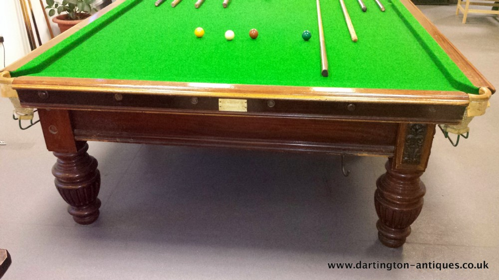 George wright and co full size antique snooker table 12ft for 12 ft snooker table
