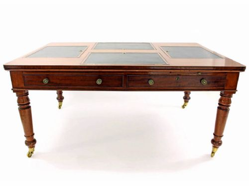 mahogany writing table with royal provenance