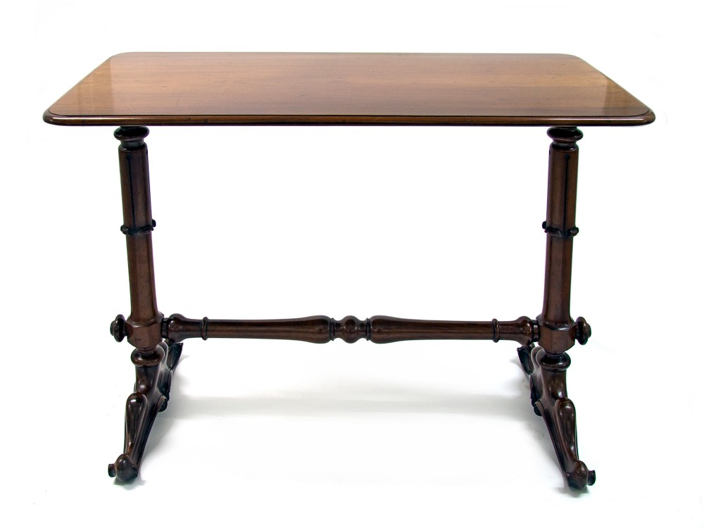 antique william iv mahogany stretcher table