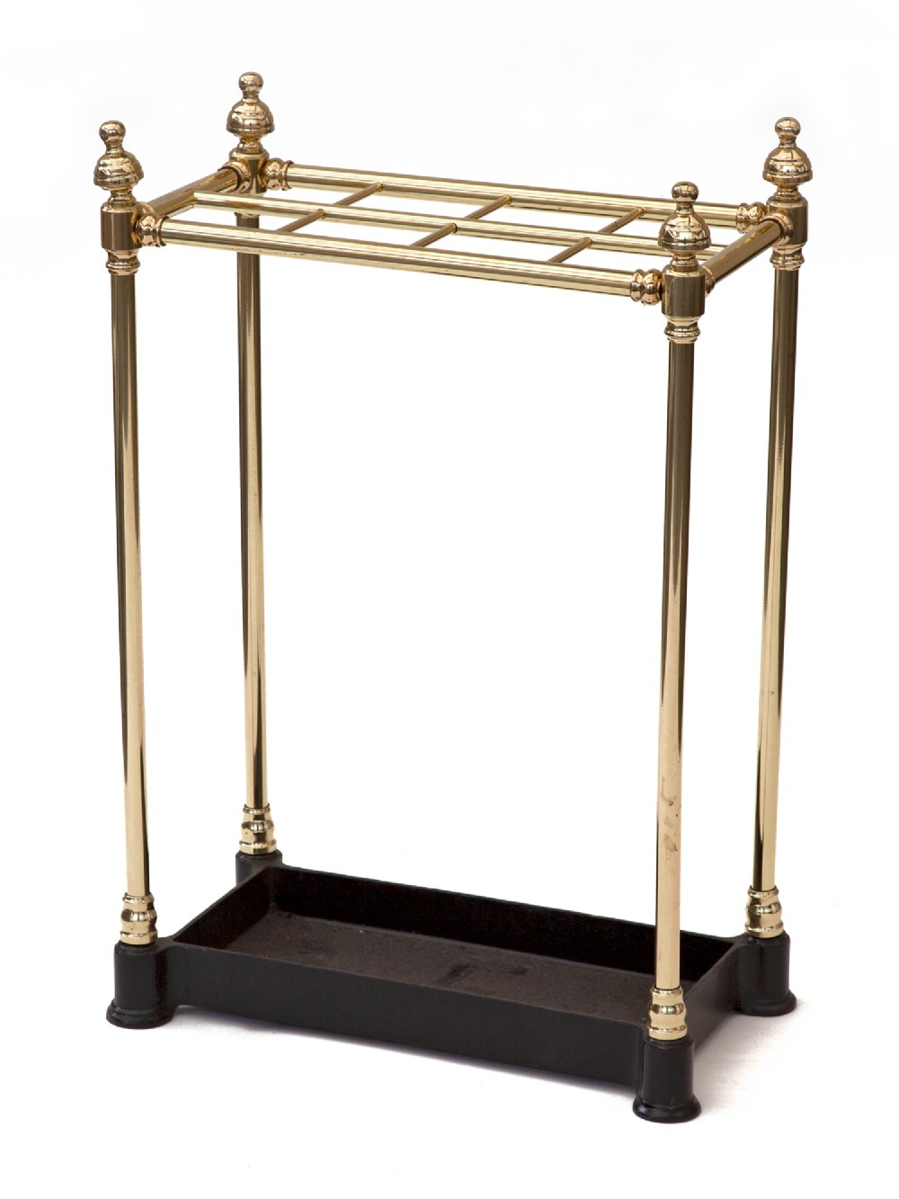 eight section brass and cast iron stick or umbrella stand