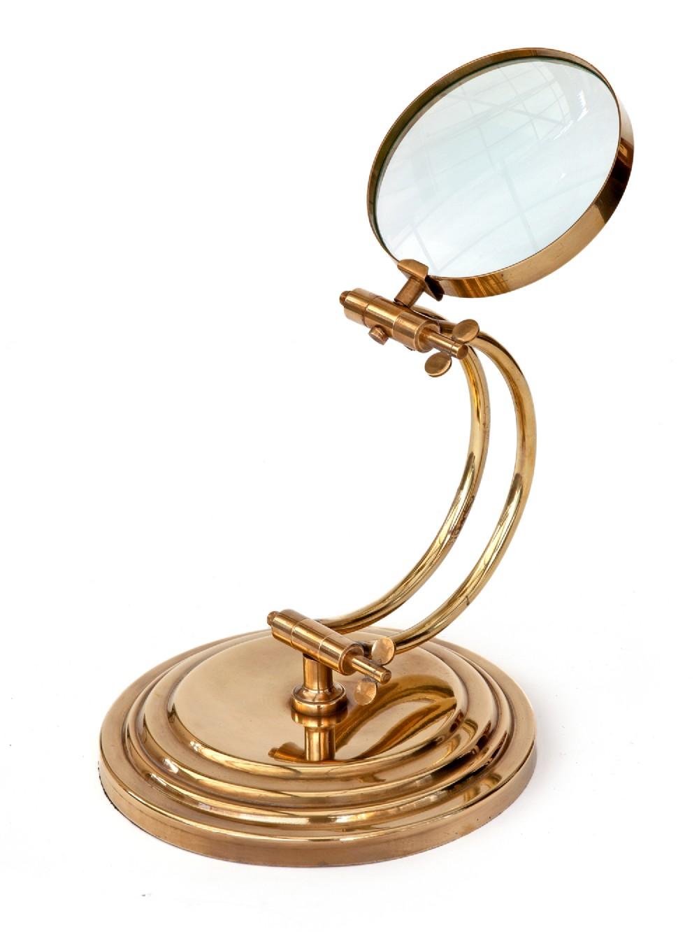 polished brass jewellers adjustable magnifying lens