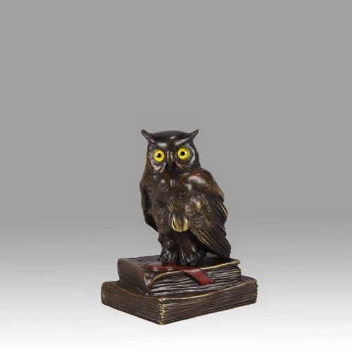 Cold Painted Austrian Bronze Figure 'wise Owl' | 591021