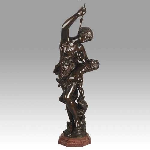 art nouveau bronze group venus cupid by j sulabadie
