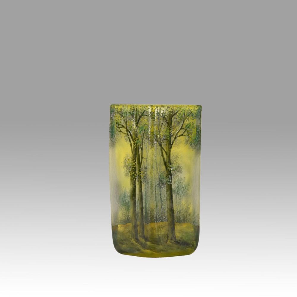 art nouveau cameo glass vase paysage de printemps by daum frres