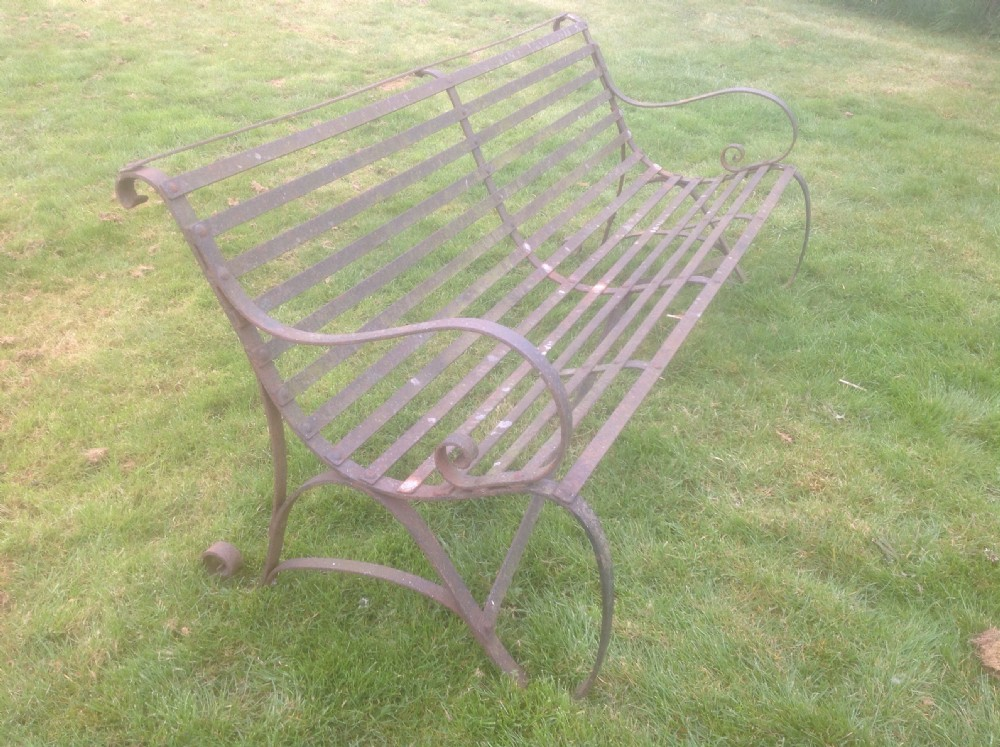 Incredible 19Th Century Antique Wrought Iron Garden Bench 399478 Ibusinesslaw Wood Chair Design Ideas Ibusinesslaworg
