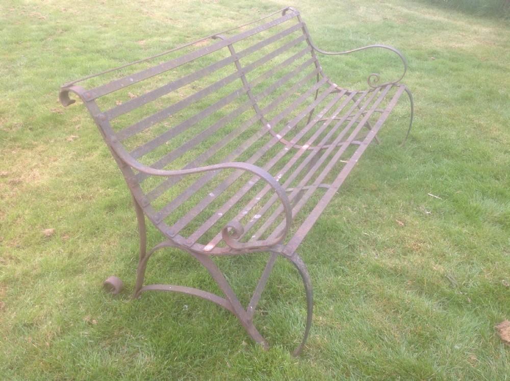 antique wrought iron bench 19th Century Antique Wrought Iron Garden Bench | 399478  antique wrought iron bench