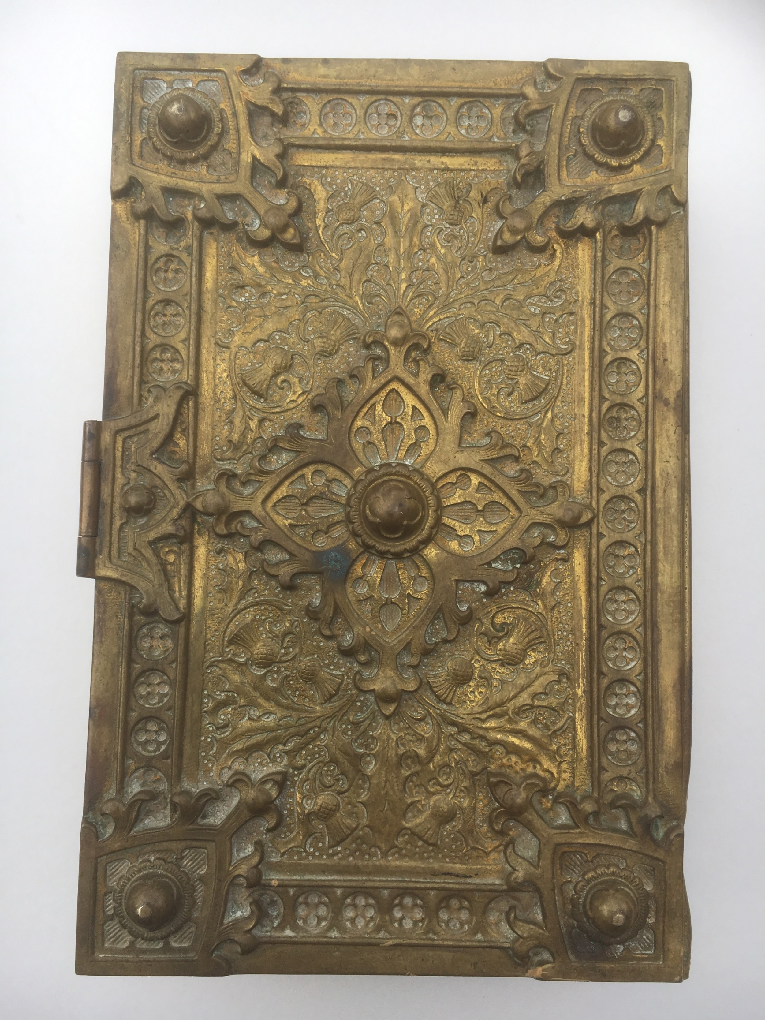 brass bible box 19th century