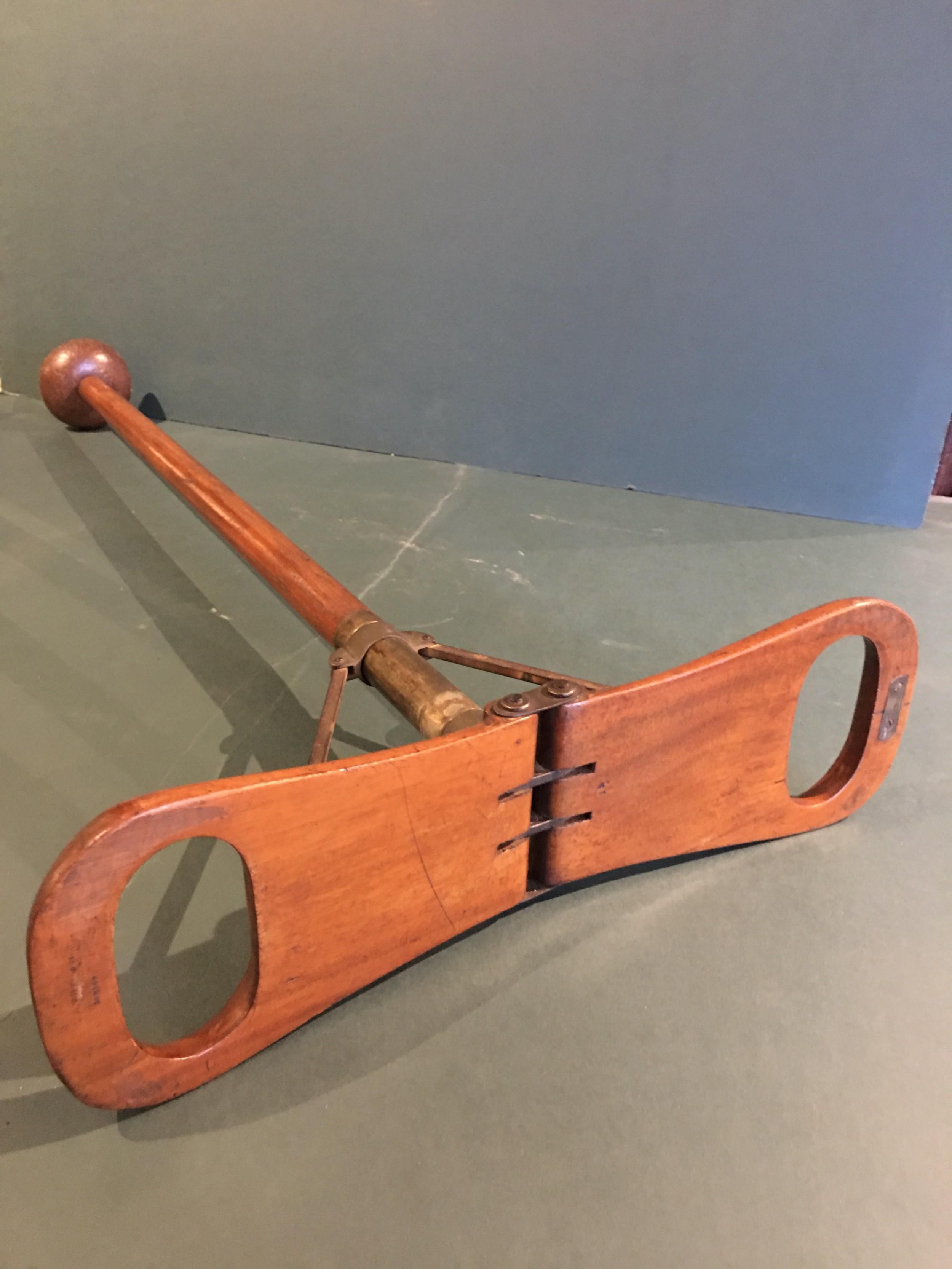 edwardian mahogany shooting stick