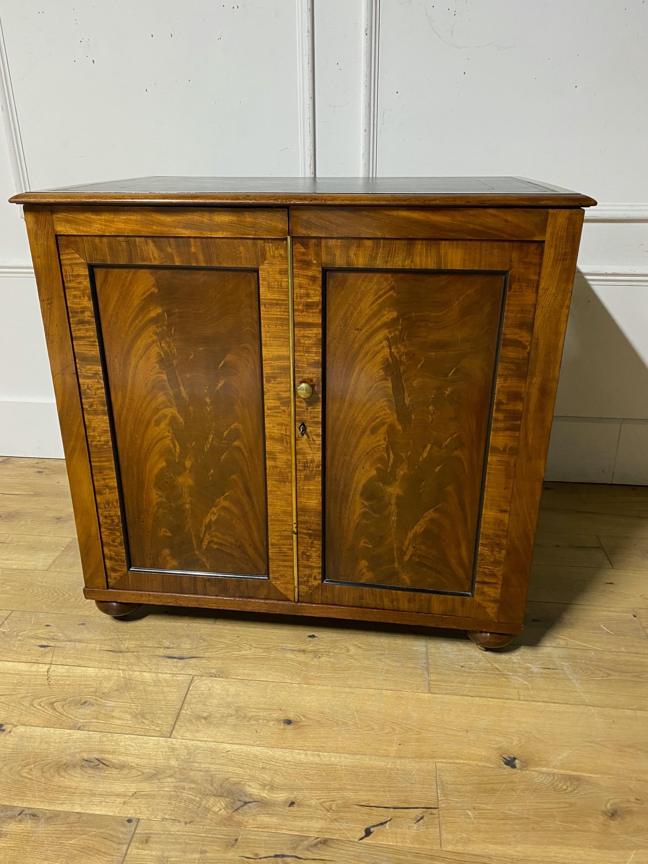 19th century mahogany library folioplan cabinet