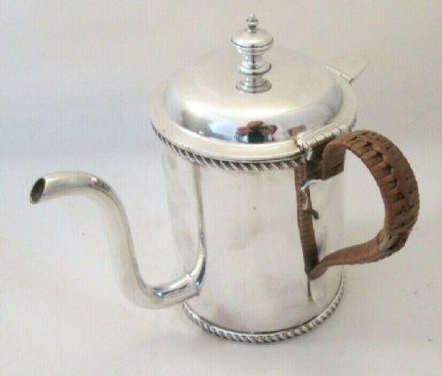 19th century silver plated argyll gravy pot martin hall co