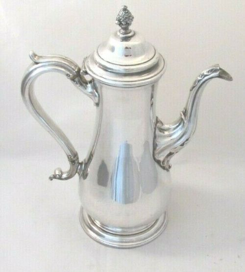 old sheffield plated coffee pot henry wilkinson c1830