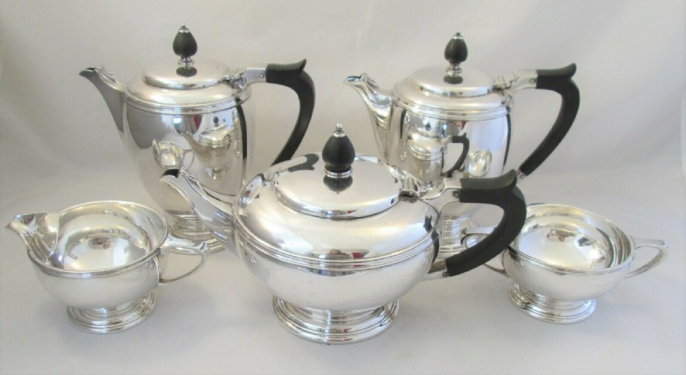 5 piece silver plated tea set by mappin and webb