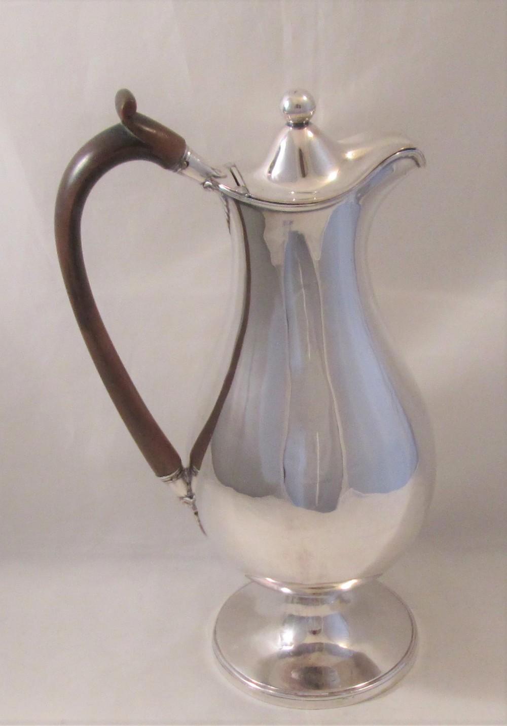 19th century silver plated wine ewer jug c1860