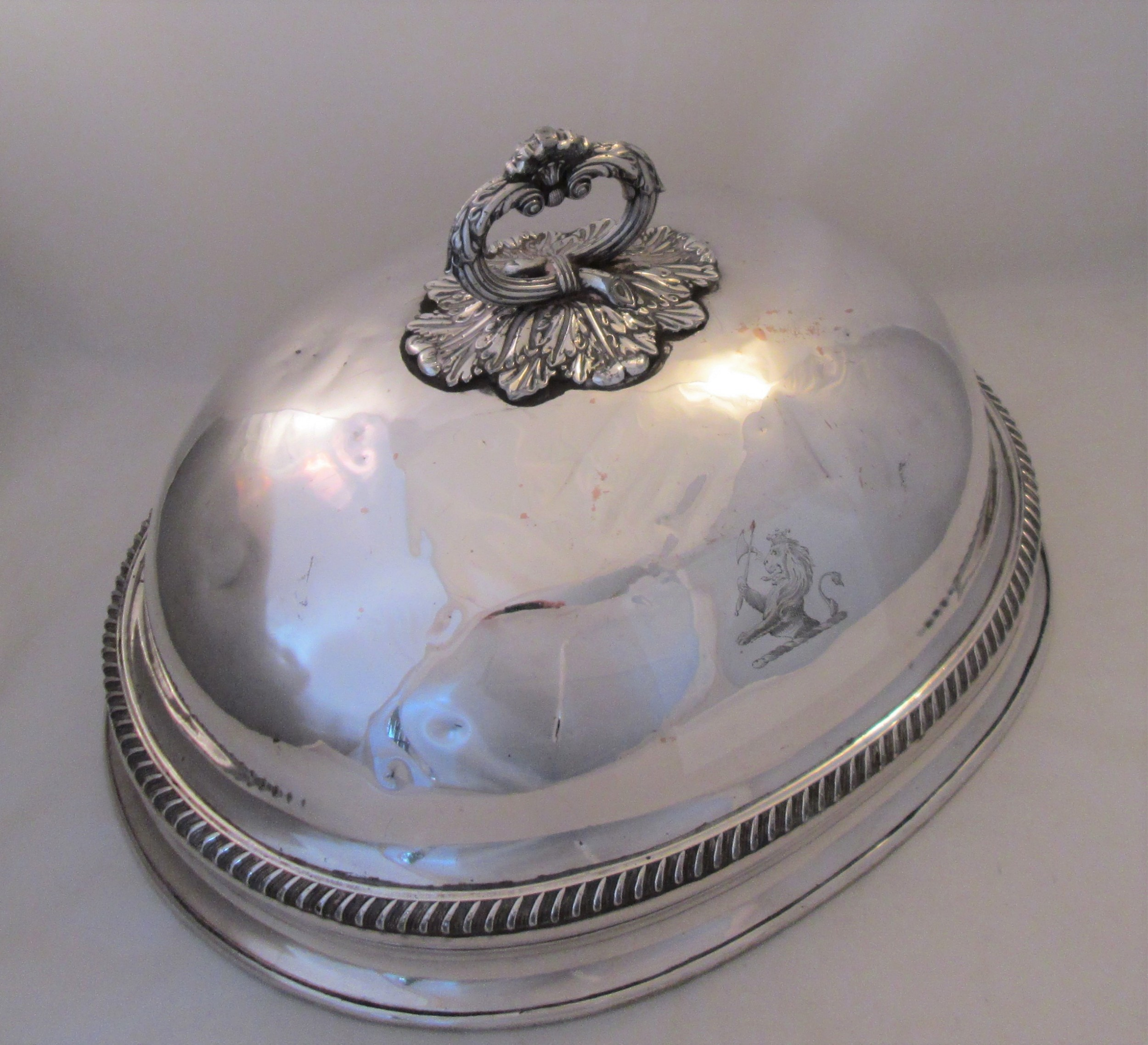 old sheffield plate meat dome c1830 creswick