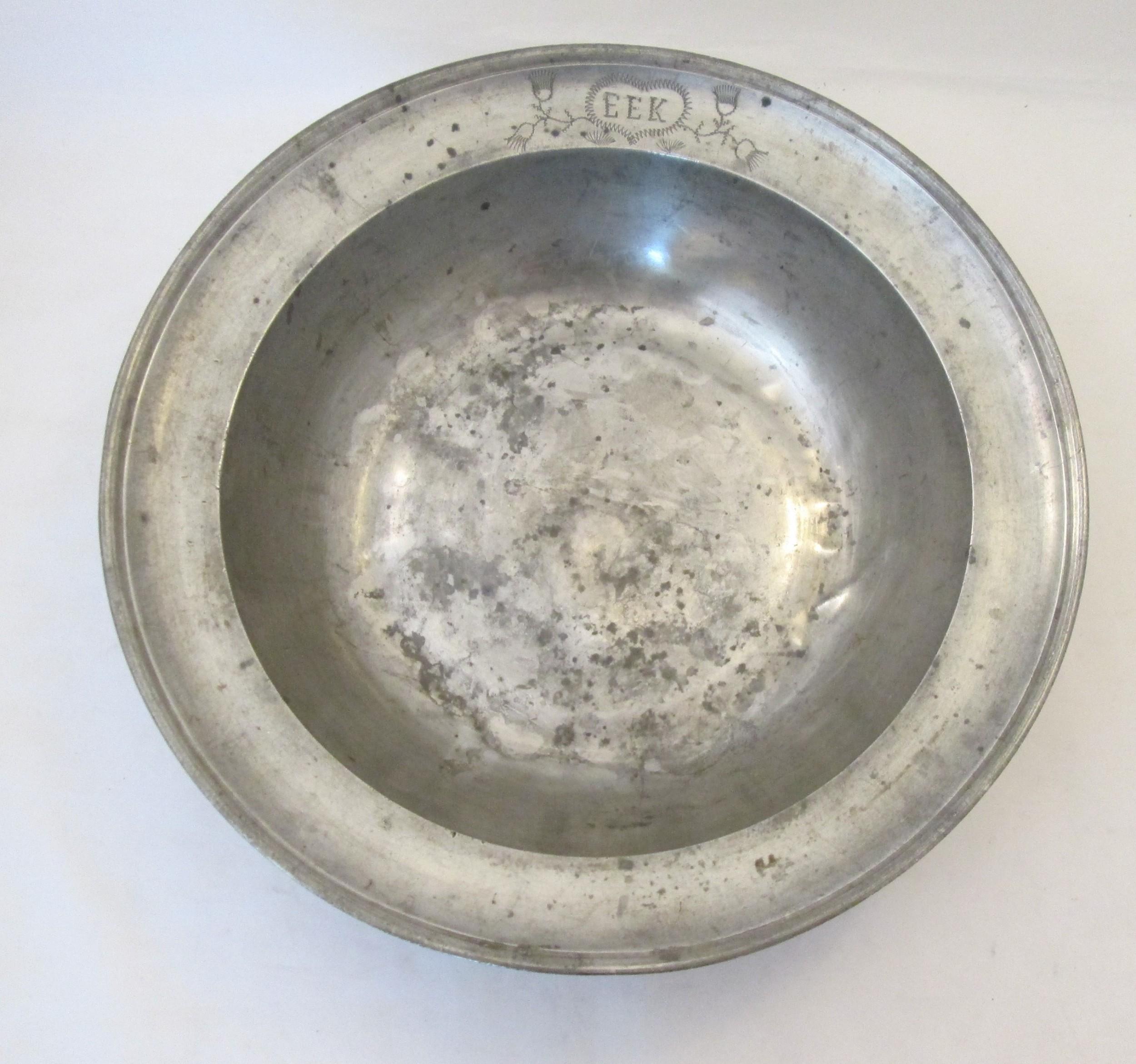 19th century german pewter bowl c1850 12