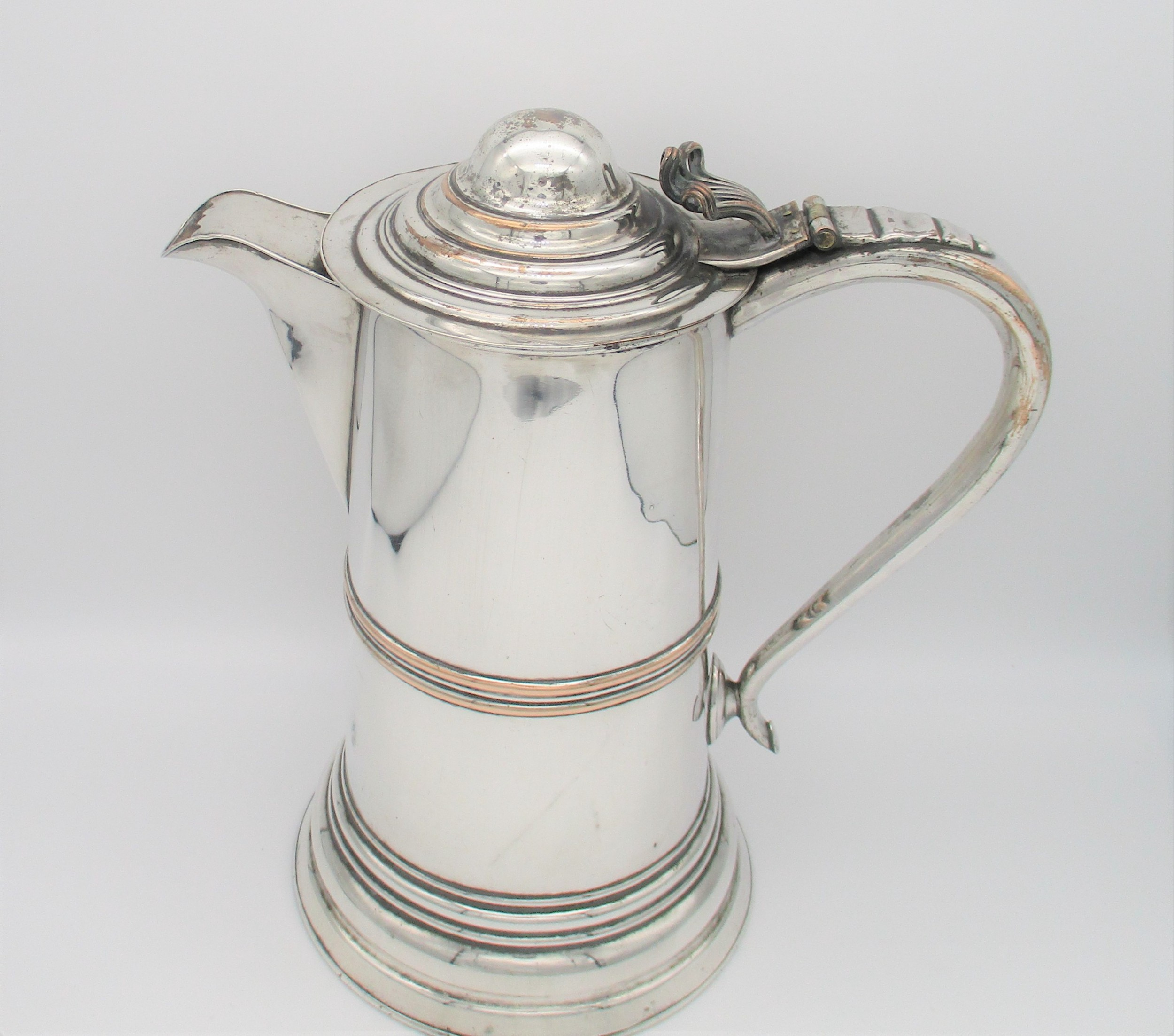 very large old sheffield plated communion jug flagon
