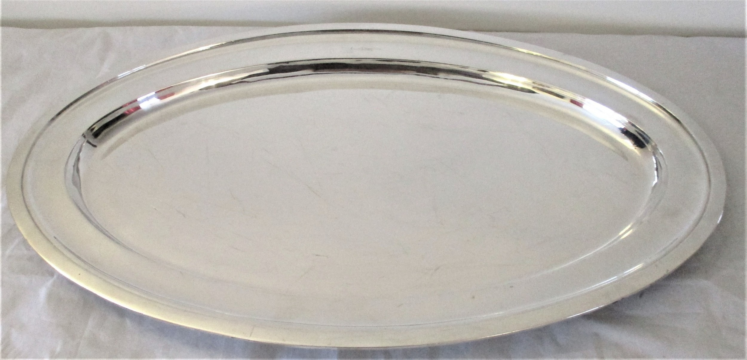 very large silver plated meat platter 24 walker hall