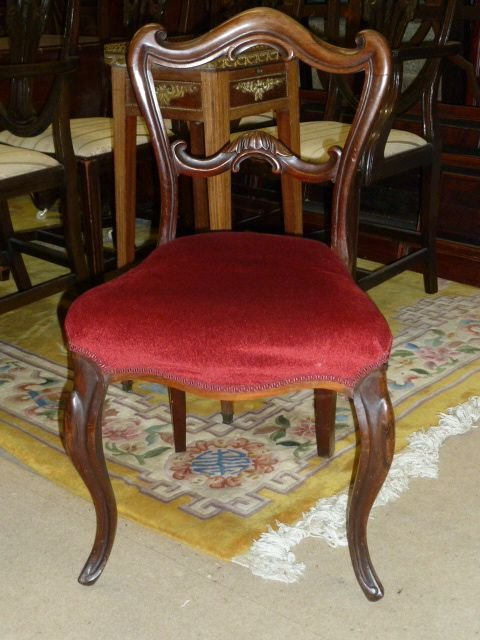 set of 6 victorian rosewood chairs - photo angle #2