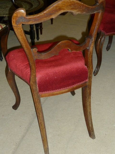 set of 6 victorian rosewood chairs - photo angle #3