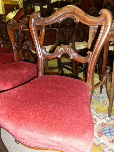 set of 6 victorian rosewood chairs - photo angle #4