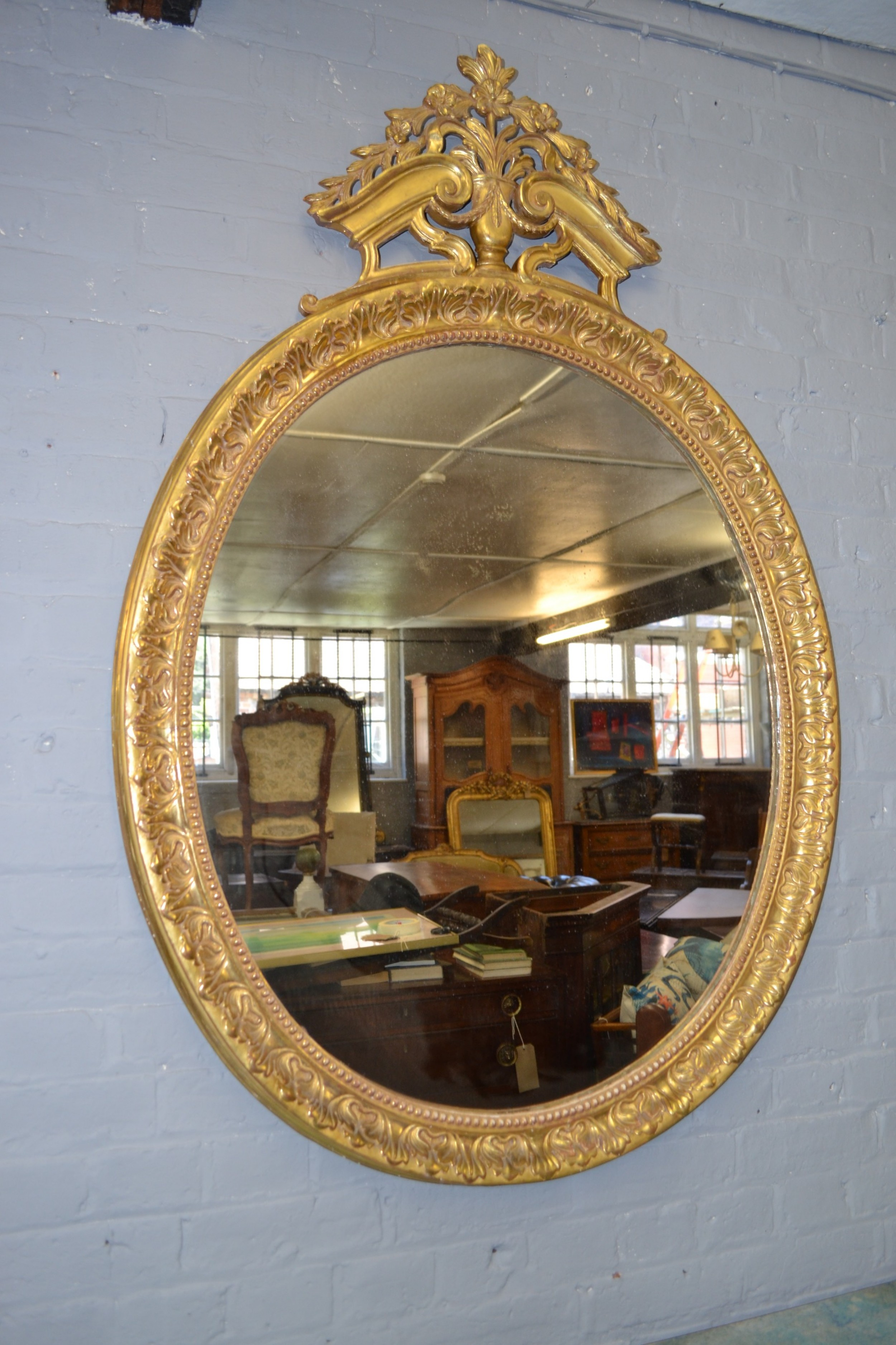 french neoclassical gilt mirror