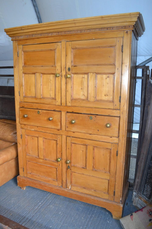 Irish Victorian Pine Larder Cupboard 262967