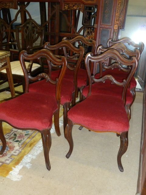 set of 6 victorian rosewood chairs