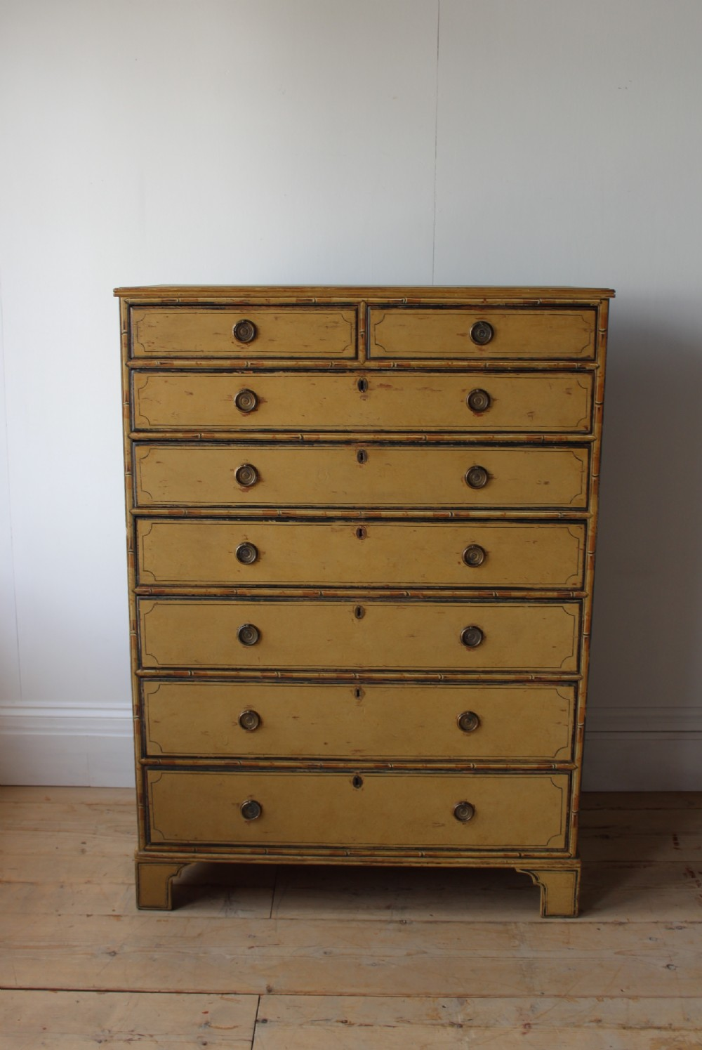 large 19th century pine chest