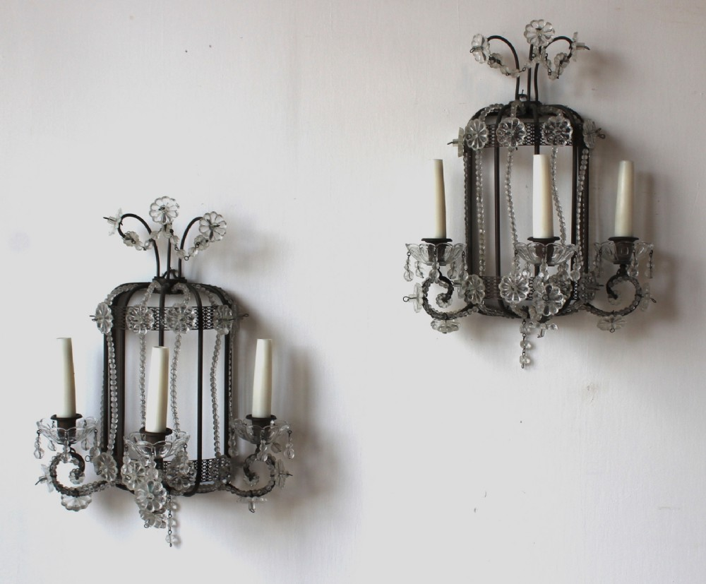 pair of 1920s wall sconces