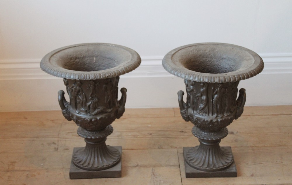 pair of 19th century urns
