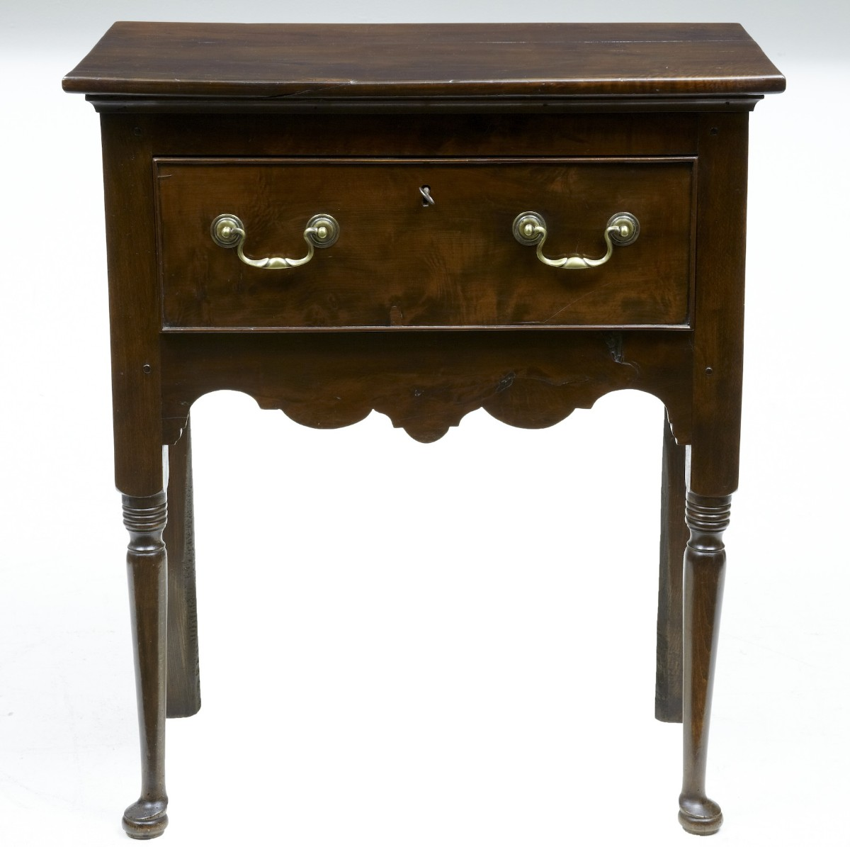 18th century antique small yew wood side table dresser for Small wooden side table