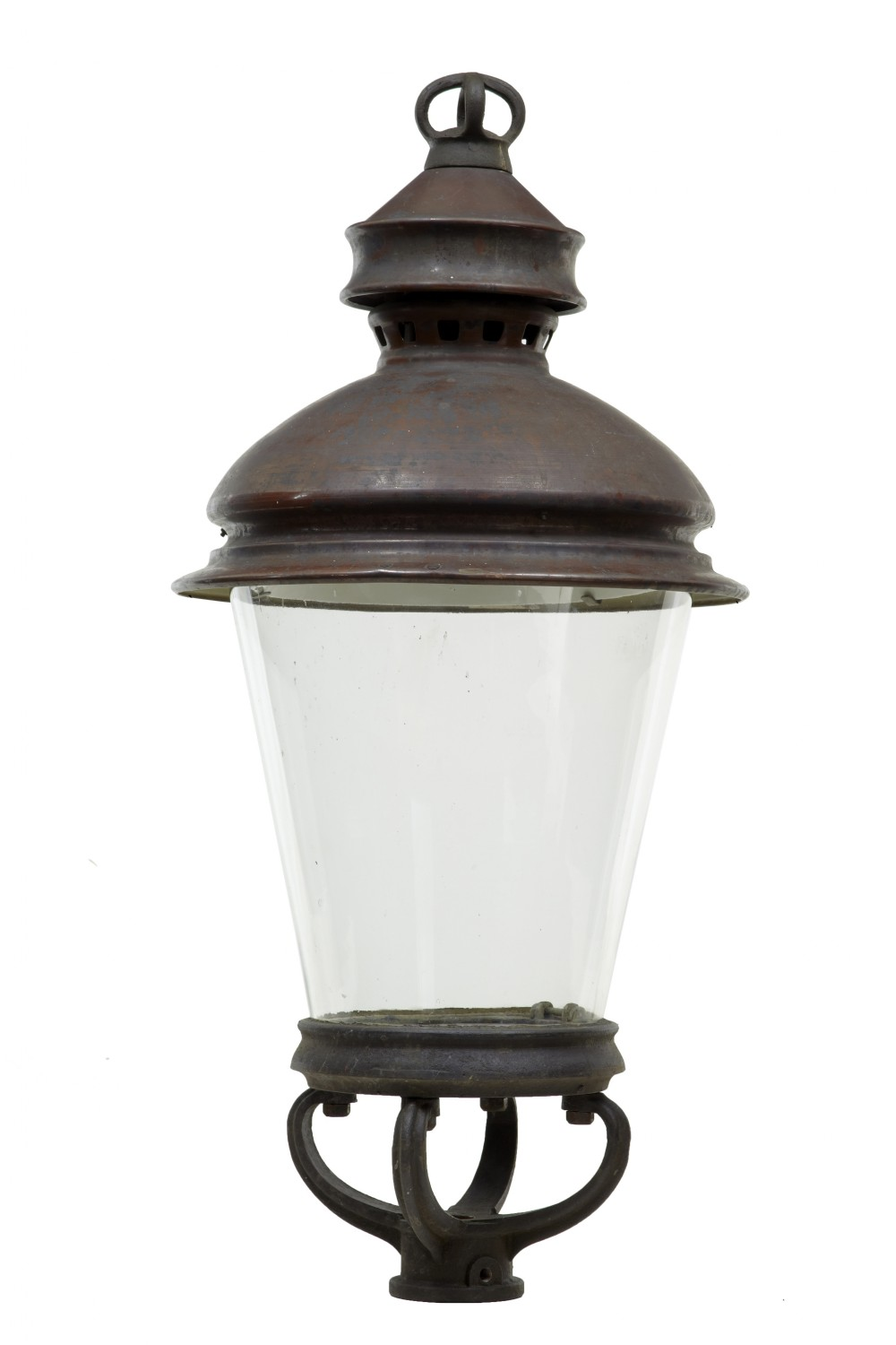 19th century large copper lantern