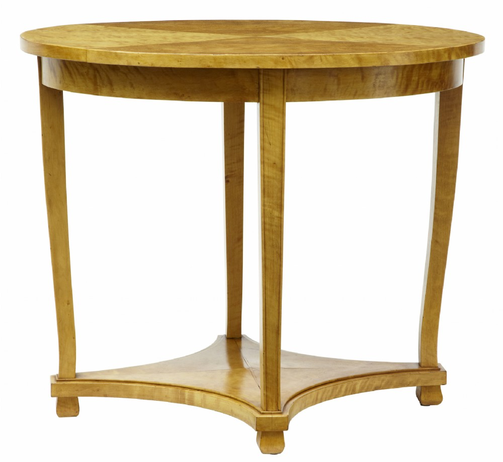 19th century swedish birch oval occasional table 336326