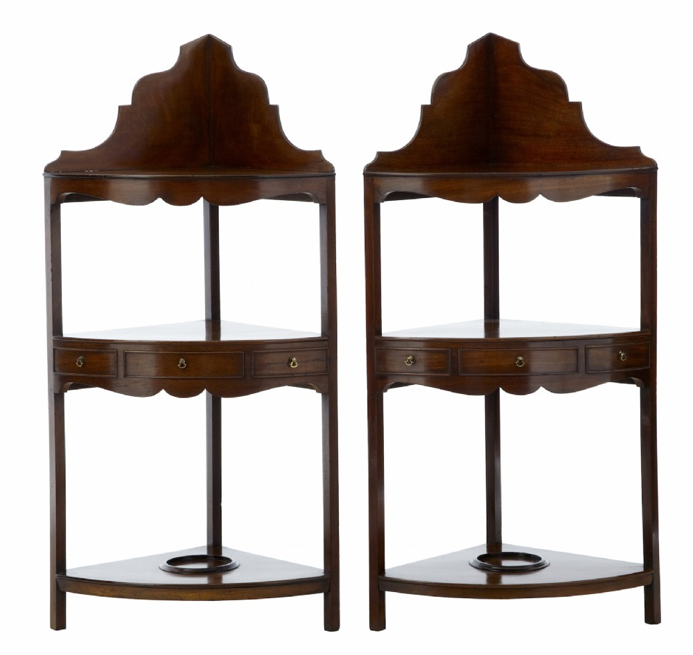 pair of 19th century georgian influenced mahogany washstands