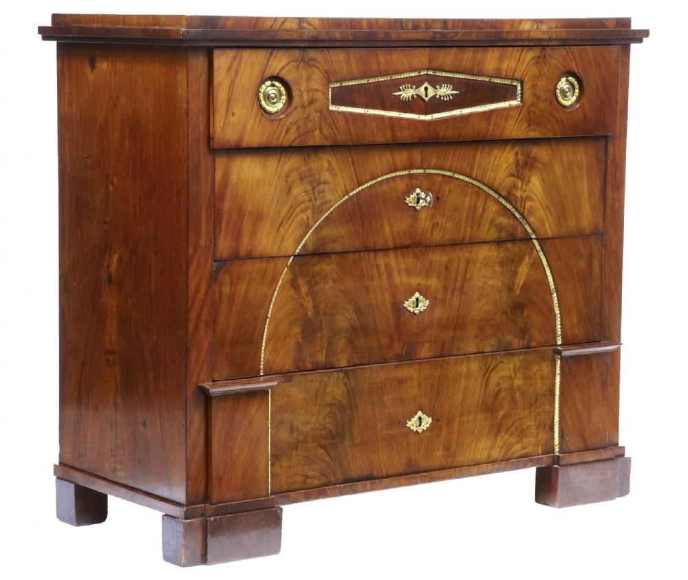 early 19th century swedish mahogany secretaire chest of drawers