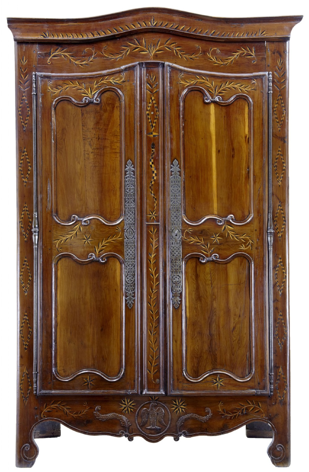 18th century french yew wood chestnut armoire