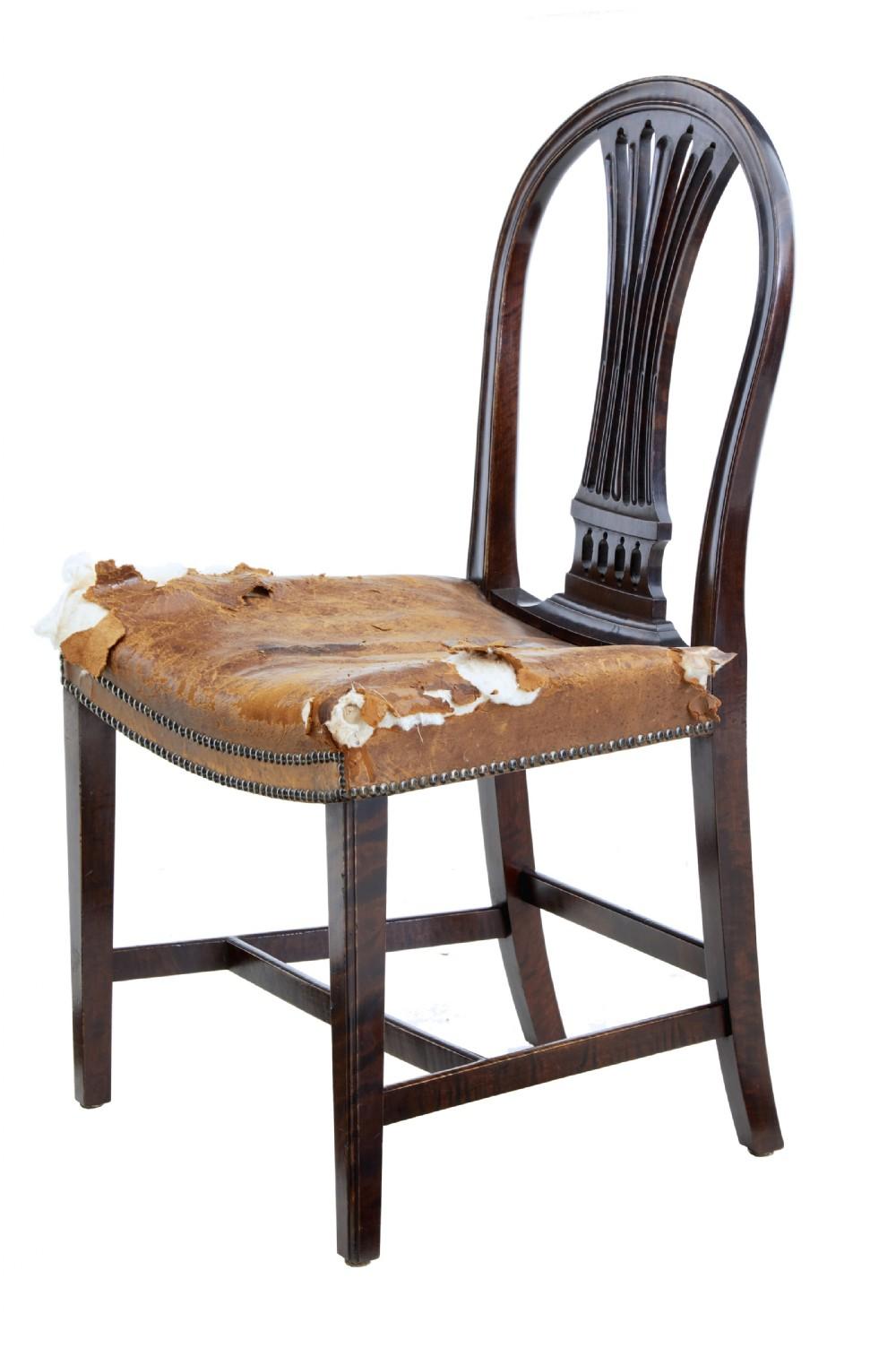 dfaacd6716f6b Set Of 6 19th Century Birch Swedish Dining Chairs