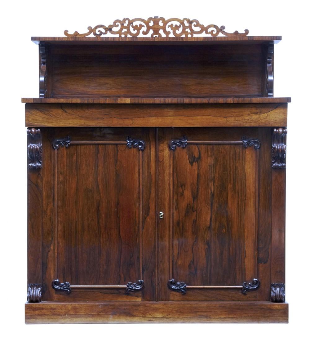 regency 19th century palisander chiffonier sideboard