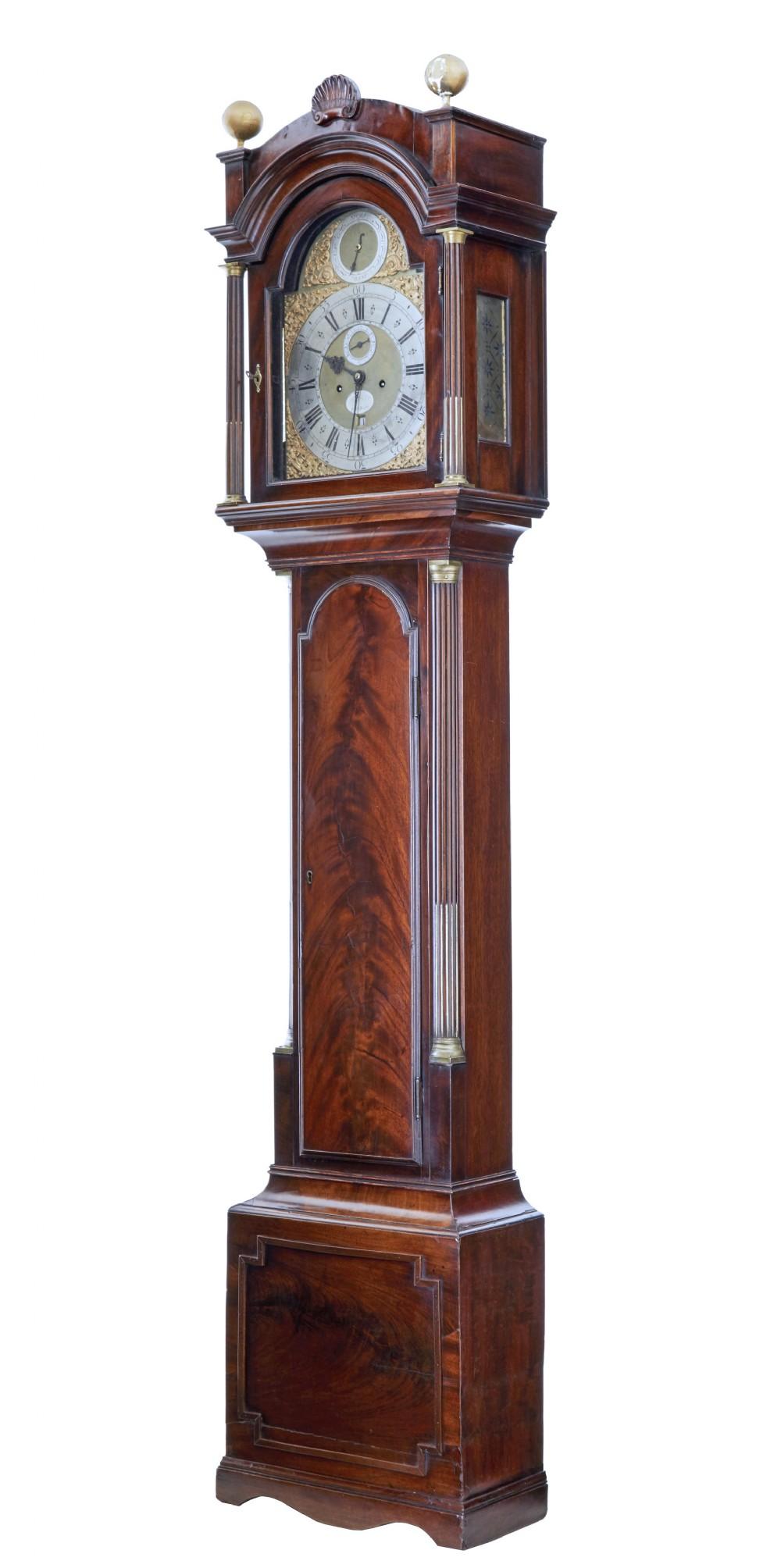 late 18th century mahogany longcase clock john purden london