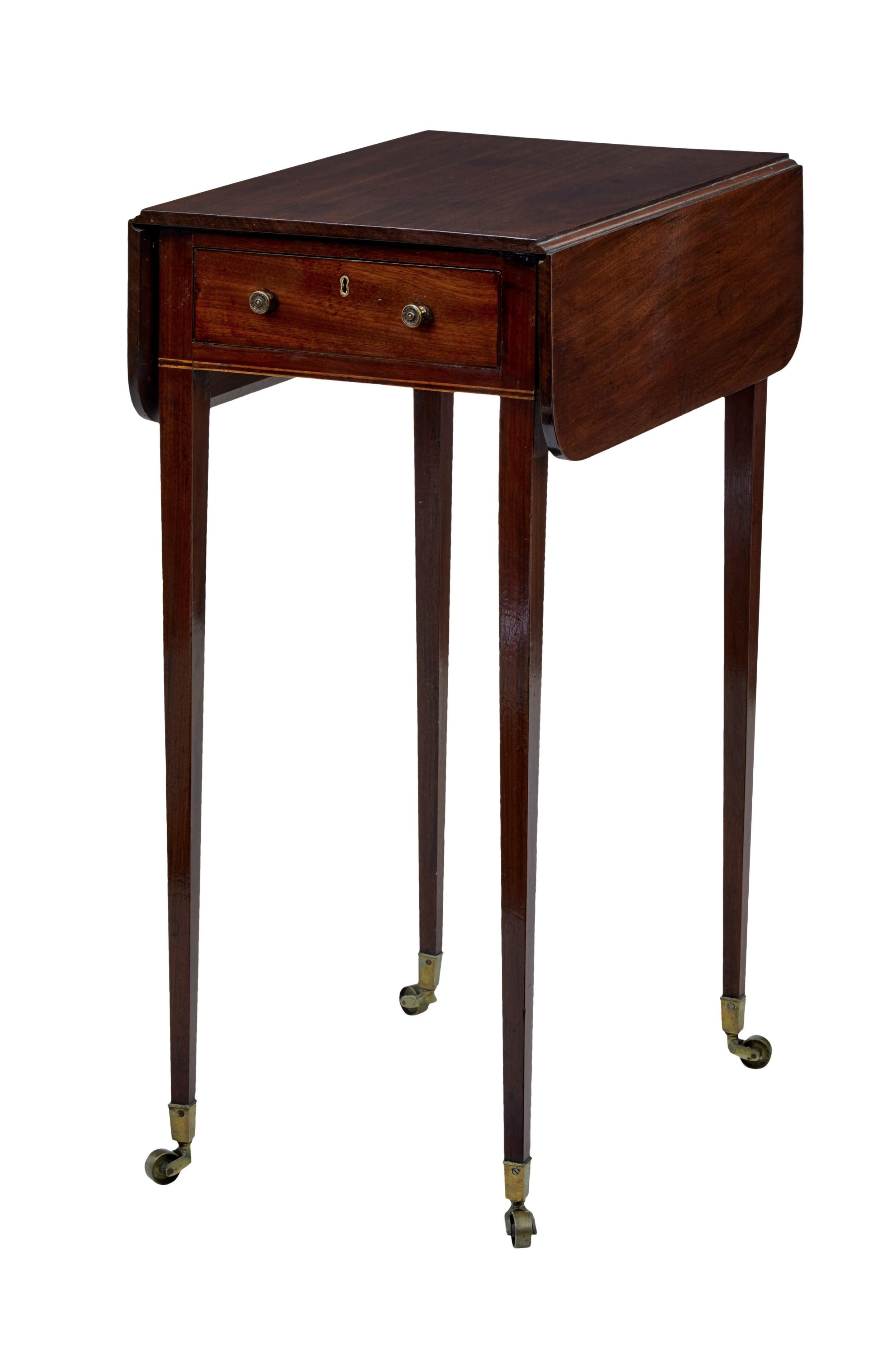 19th Century Regency Mahogany Small Drop Leaf Table
