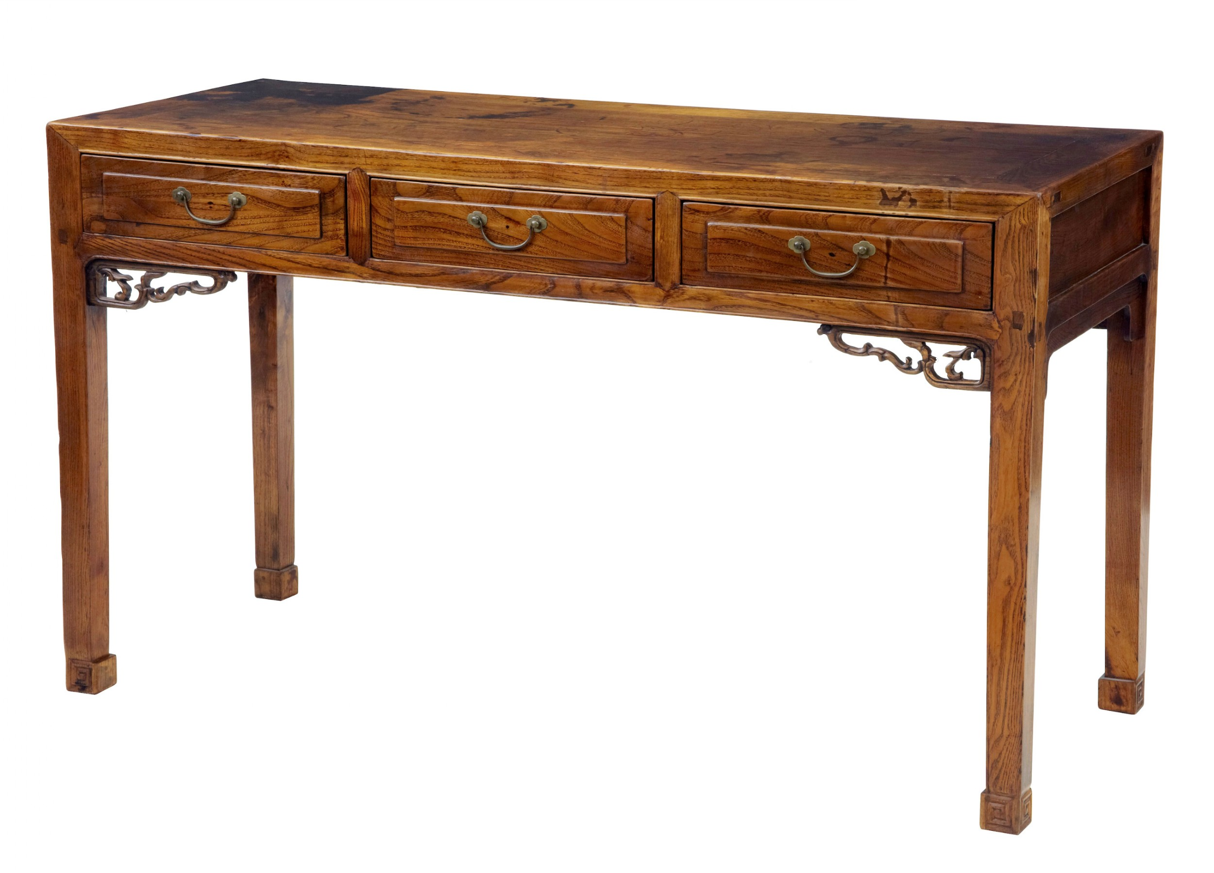 19th century elm chinese console table sideboard