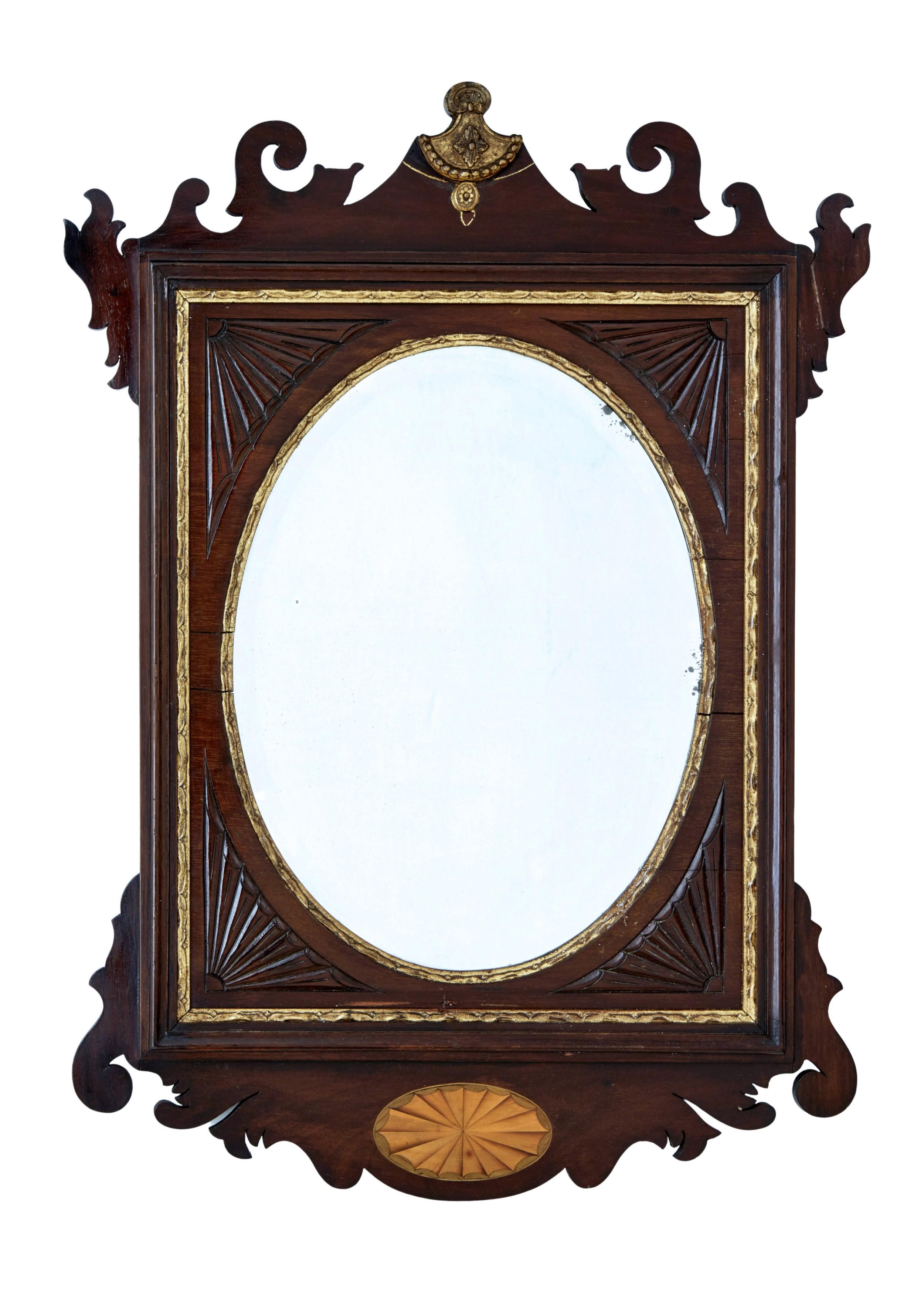 late 19th century american sheraton revival walnut mirror