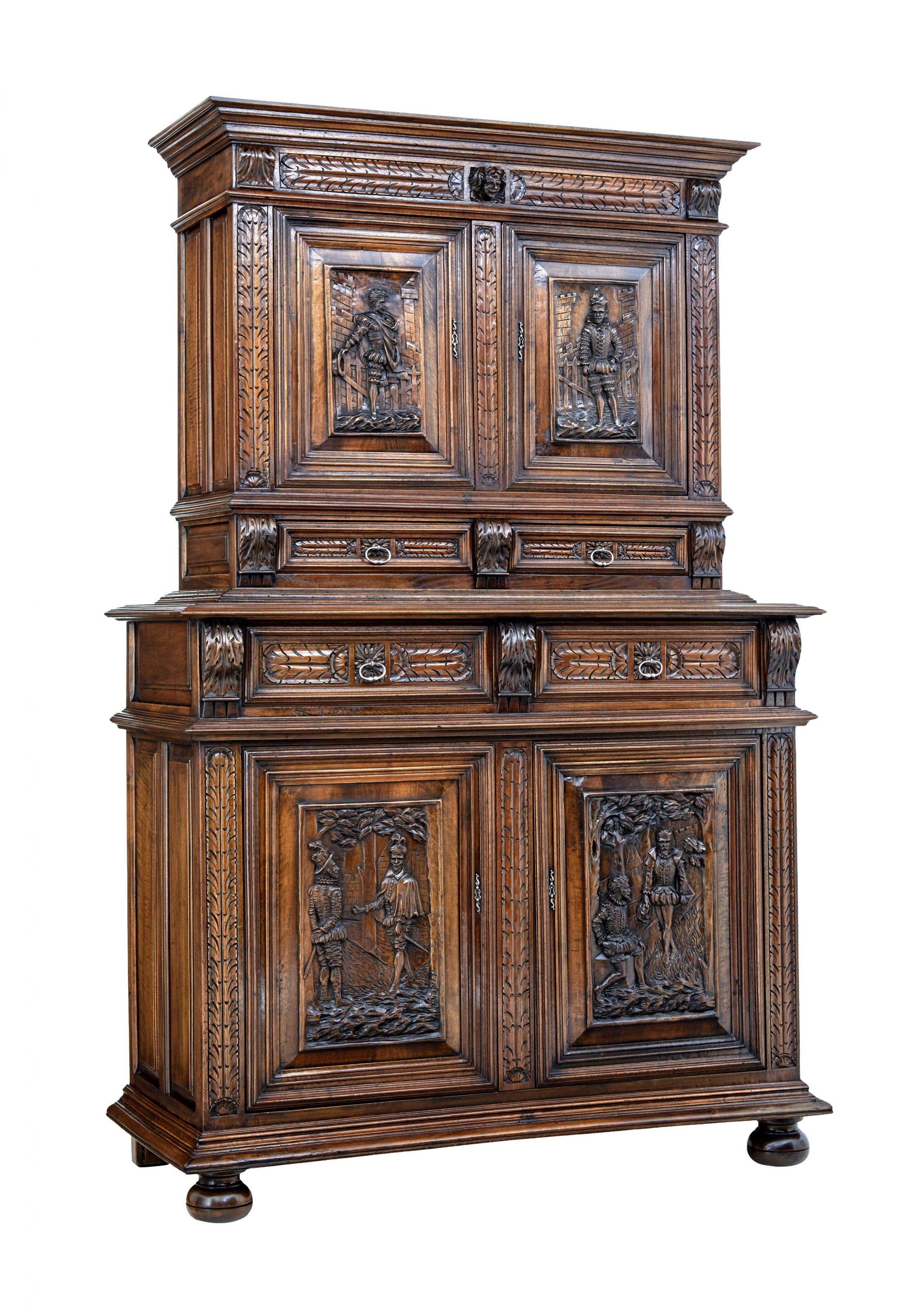 mid 19th century carved walnut italian cabinet