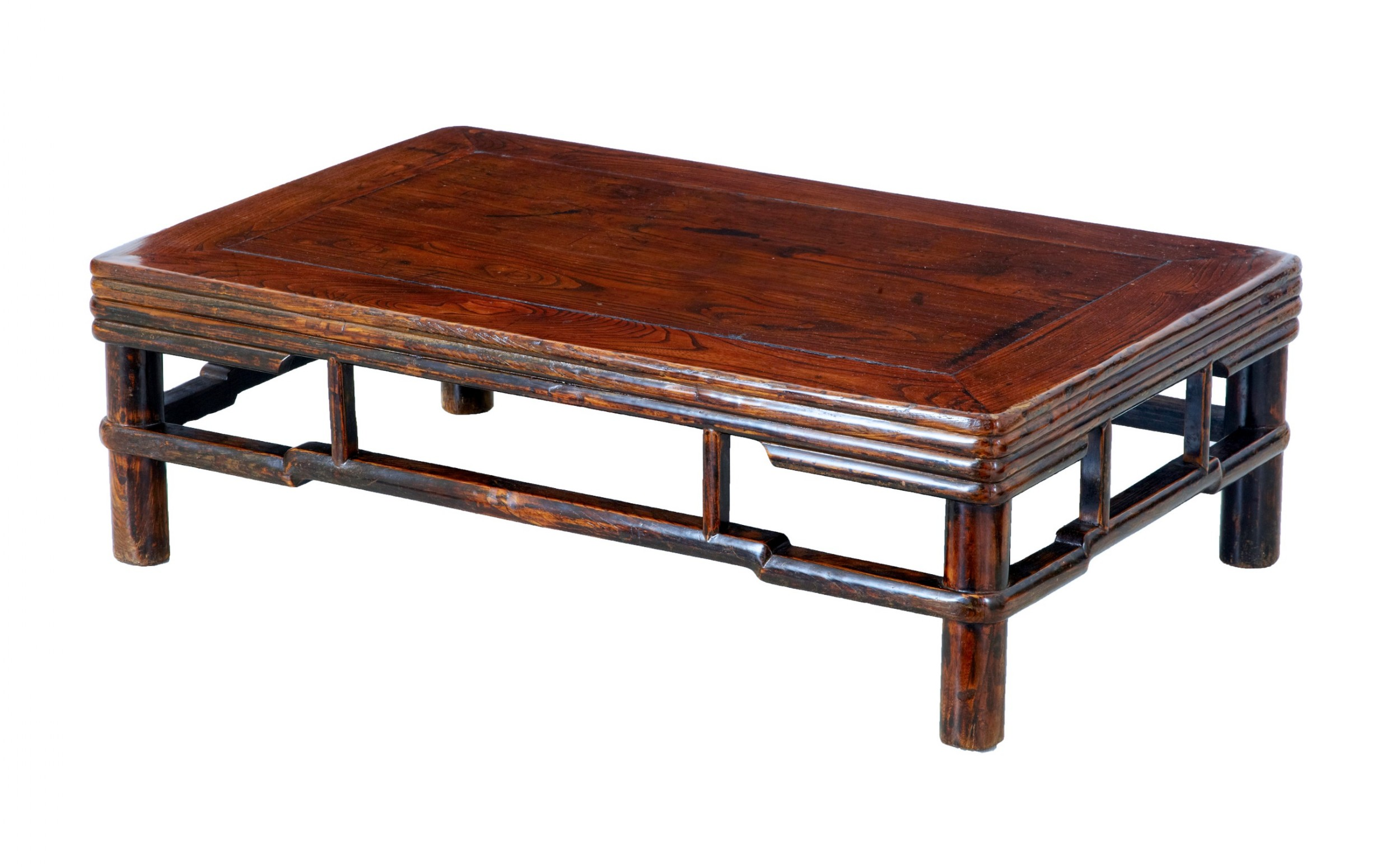19th century chinese elm low occasional table