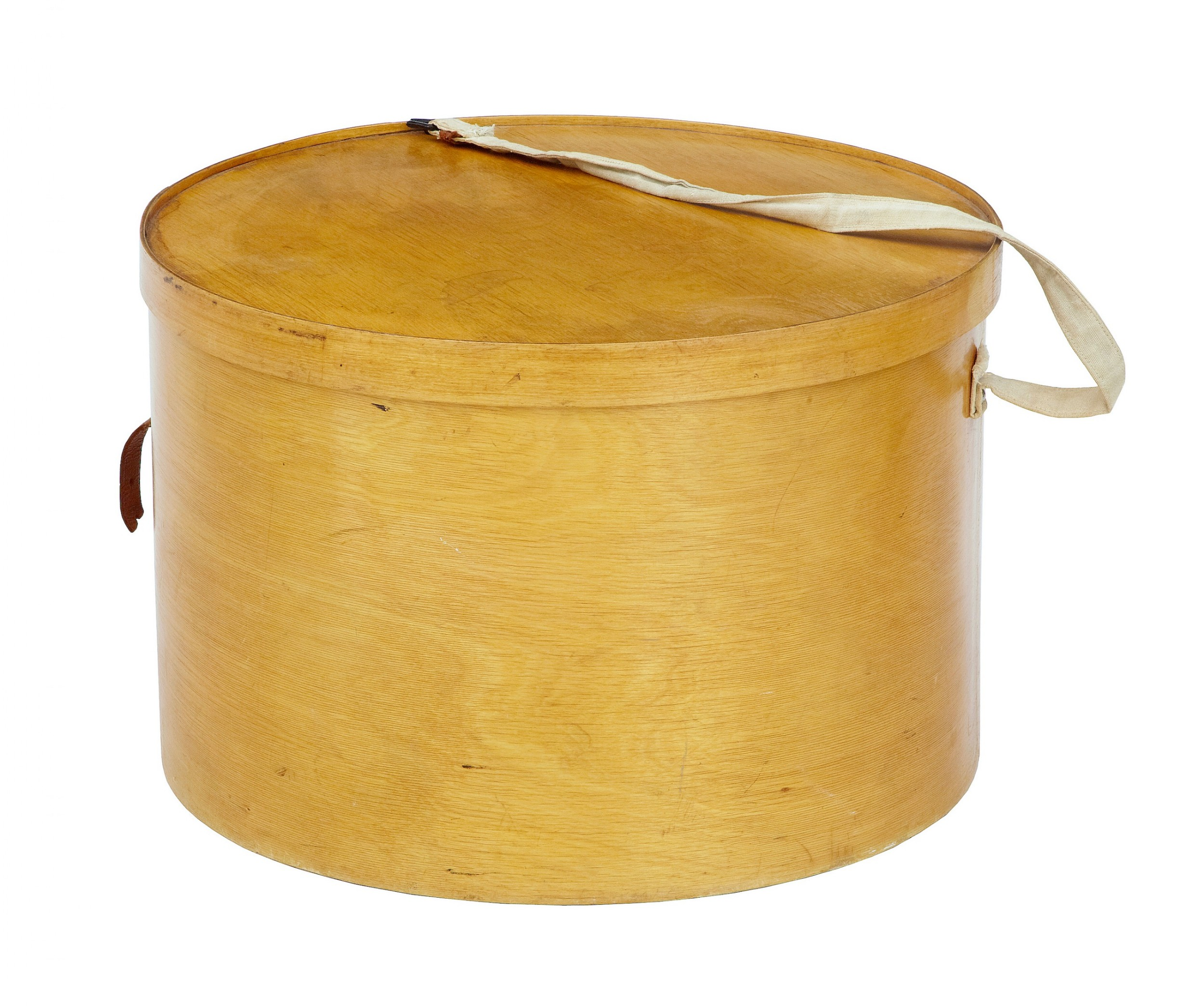 early 20th century luterma reval birch bent wood hat box