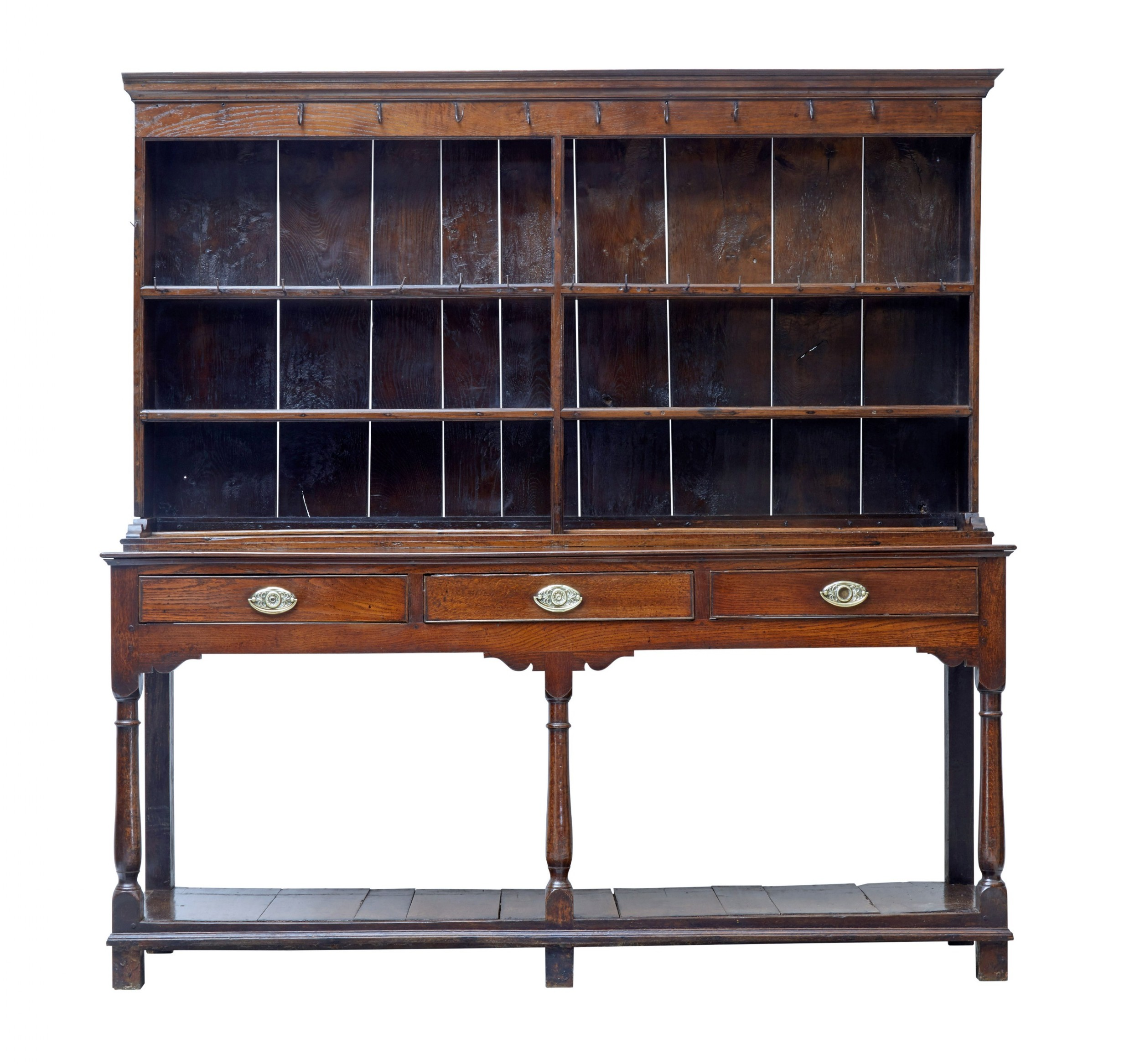 18th century welsh oak dresser and rack