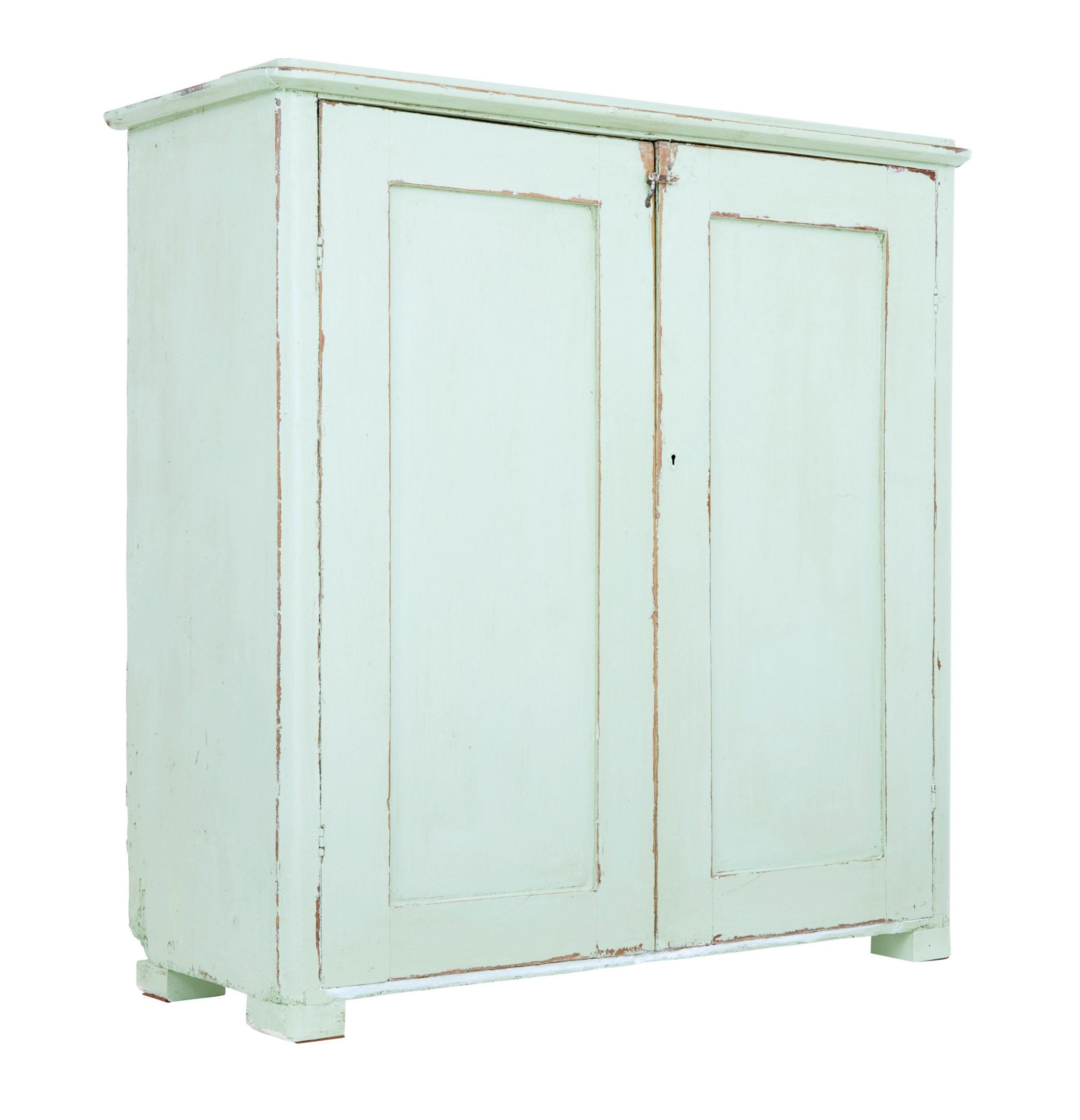 swedish mid 19th century painted pine cupboard sideboard