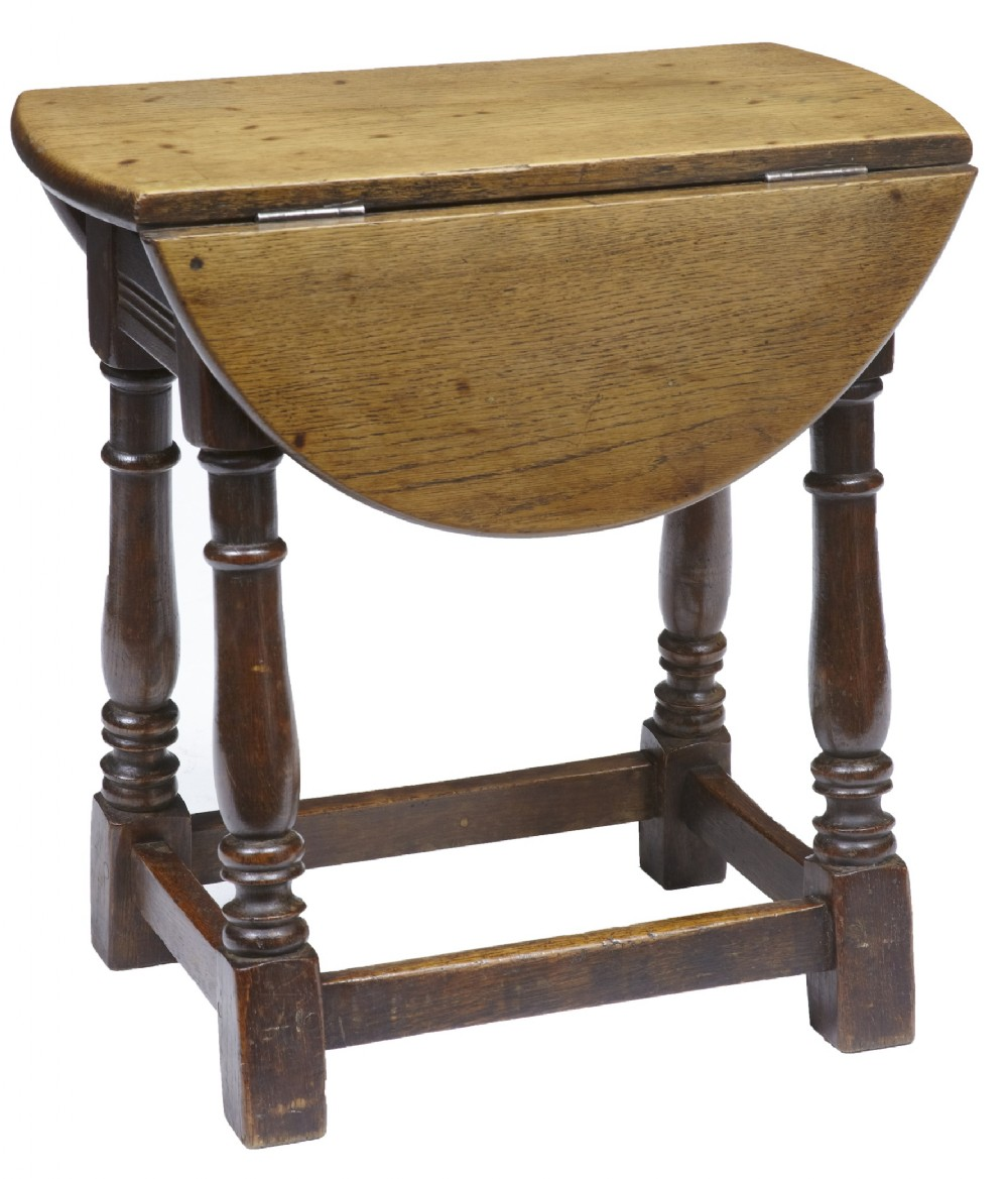 Unusual 19th century small oak dropleaf side table for Unusual tables