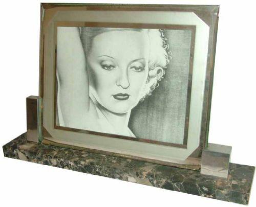 large modernist art deco picture frame