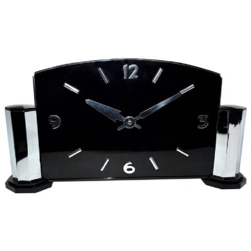 impressively large art deco modernist english mantle clock circa 1930
